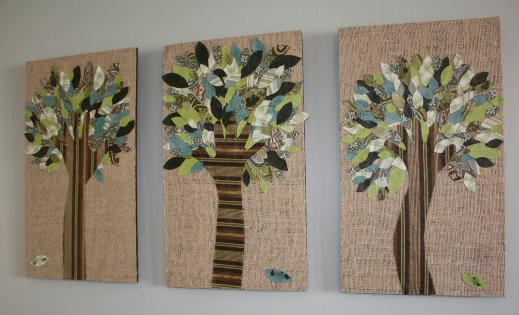 Деревца из ткани