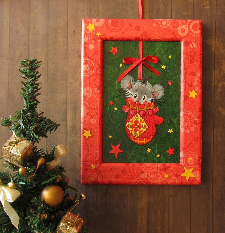 Новогодние открытки на стены
