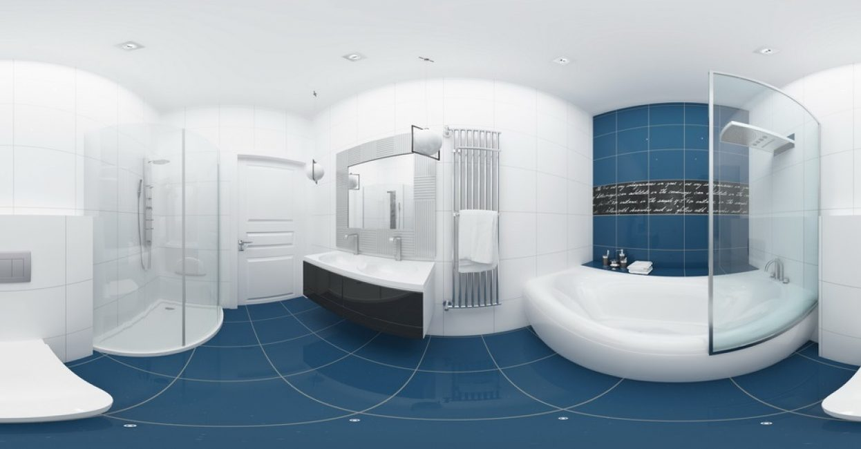 Стильная и удобная ванная комната