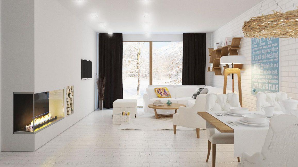Гостиная в уютном, загородном стиле