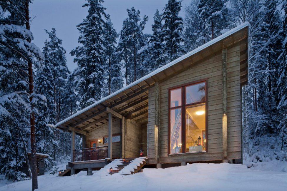 Компактный домик с хорошей термоизоляцией