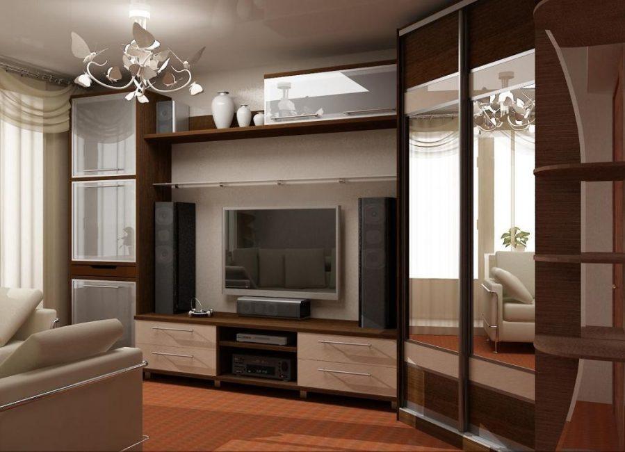 Позволит визуально увеличить пространство квартиры,
