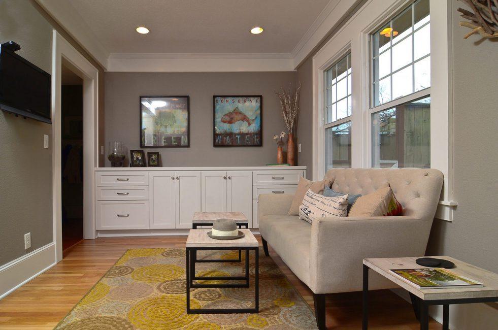 Светлые оттенки нужны для декорирования маленьких комнат