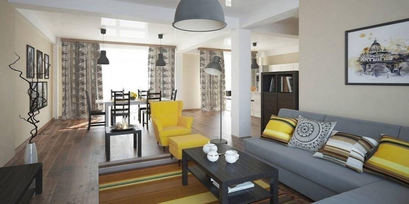 Изысканный модерн несложно реализовать в небольших помещениях