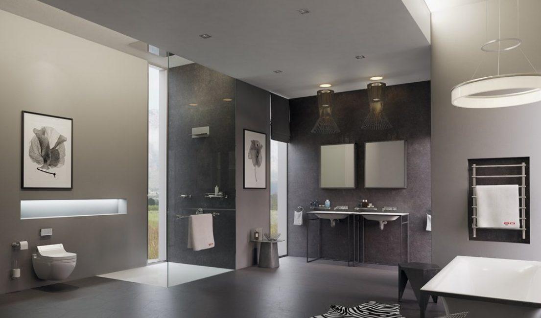 Интерьер ванной в стиле хай-тек принесет пространству всю пользу современности