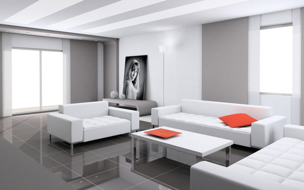 Главная особенность этого стиля – изобилие пространства в комнате