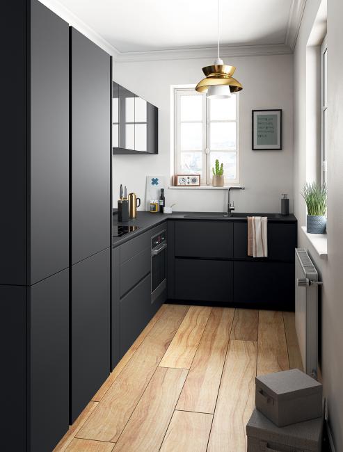 Вариант экономии пространства для небольшой кухни