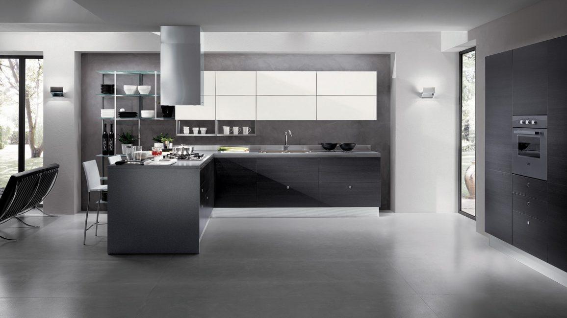 В такой кухне техника является технологичной, модной и дорогой