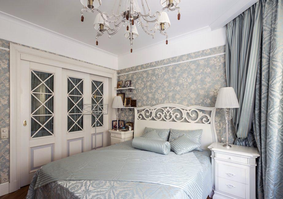 Цвет в стиле прованс идеально подходит для спальни