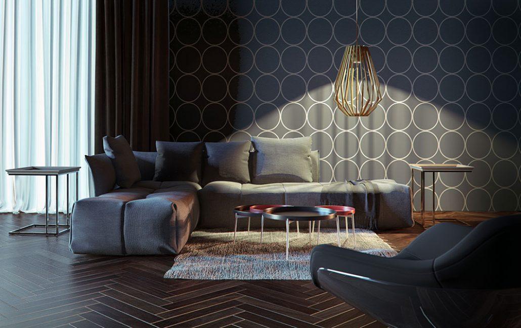 Черный сделает комнату стильной