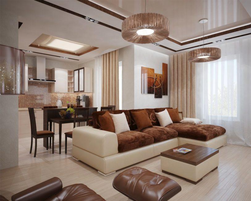 Подобные диваны можно использовать практически для любых комнат