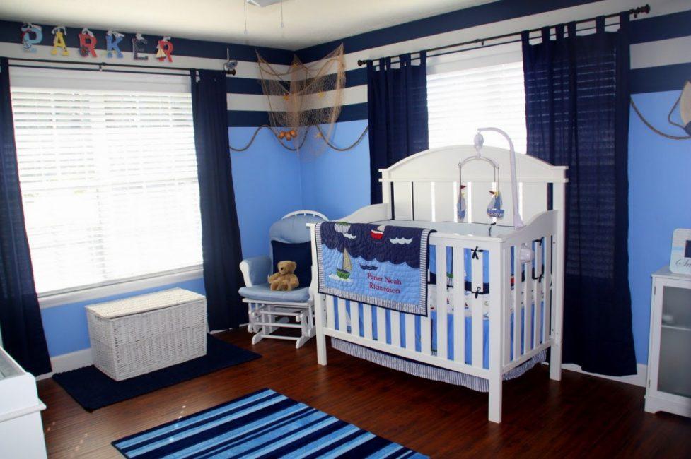 Часто используется для оформления детской комнаты