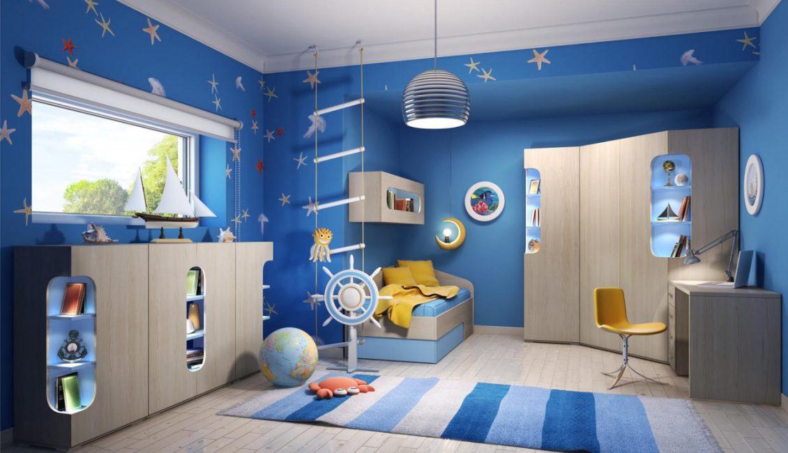 Прекрасный вариант для комнаты мальчиков