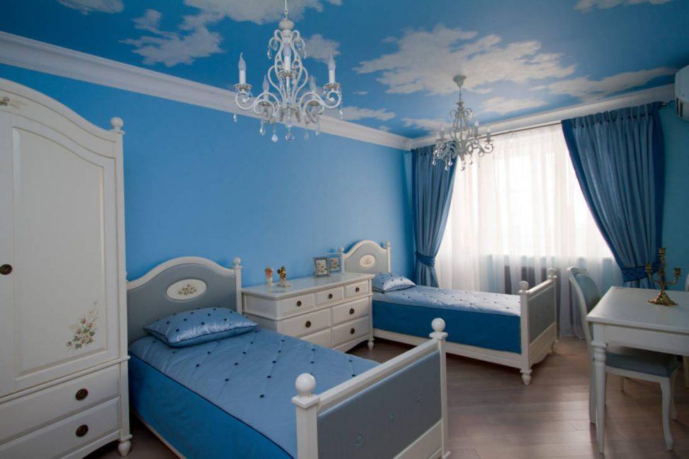Светлые тона лучше выбирать для спальни