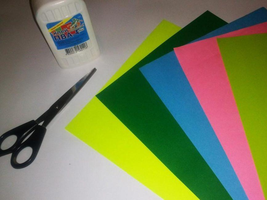 Плотная цветная бумага