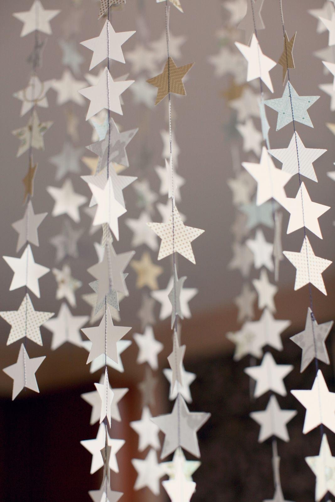 Гирлянда из звёздочек своими руками 63