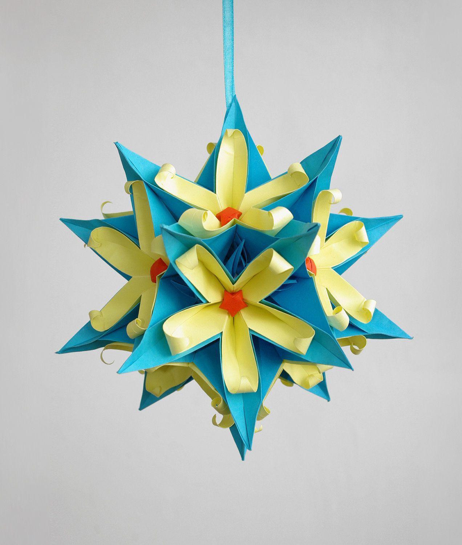 Как сделать ёлочною игрушку из бумаги