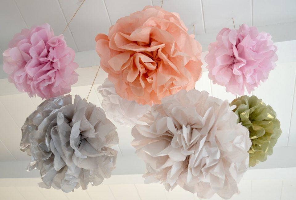 Объемные шары для декора потолка, сделать легко и смотрятся оригинально