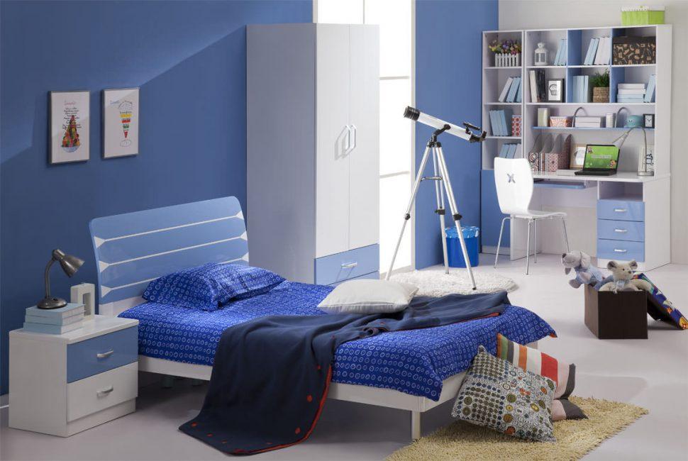 Великолепный интерьер синего цвета