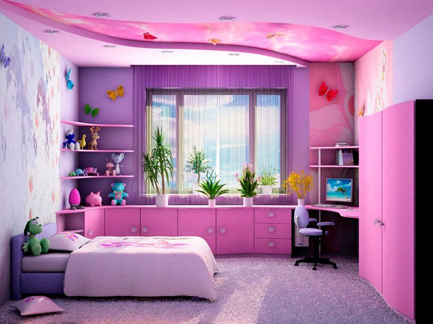 Роскошная фиолетовая комната