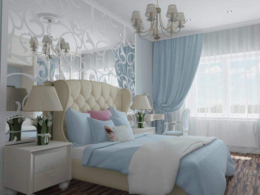 Спальня в современном классическом стиле