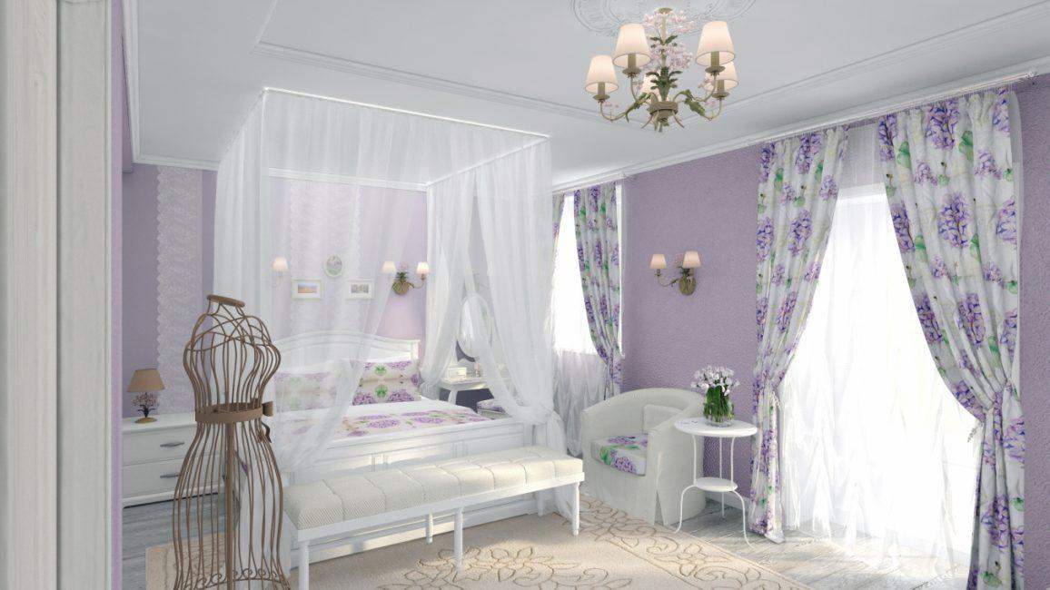 Холодный фиолетовый в стиле Прованс