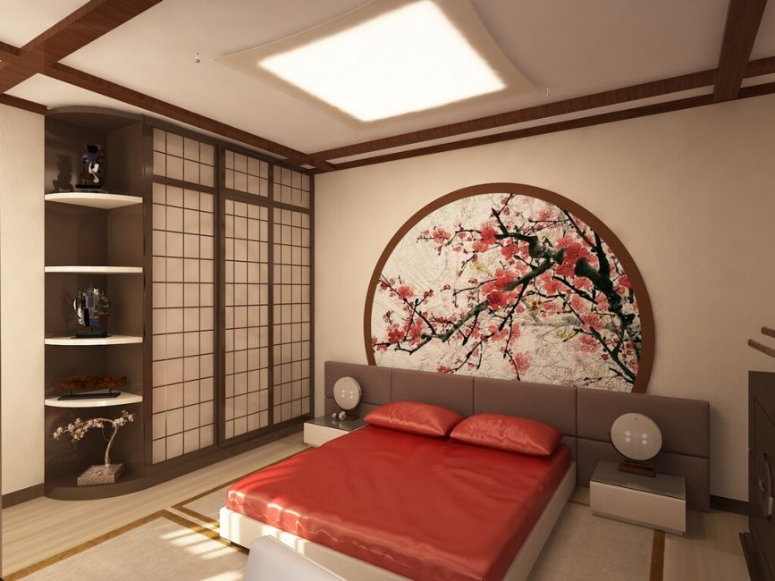 Восточный стиль в интерьере комнаты