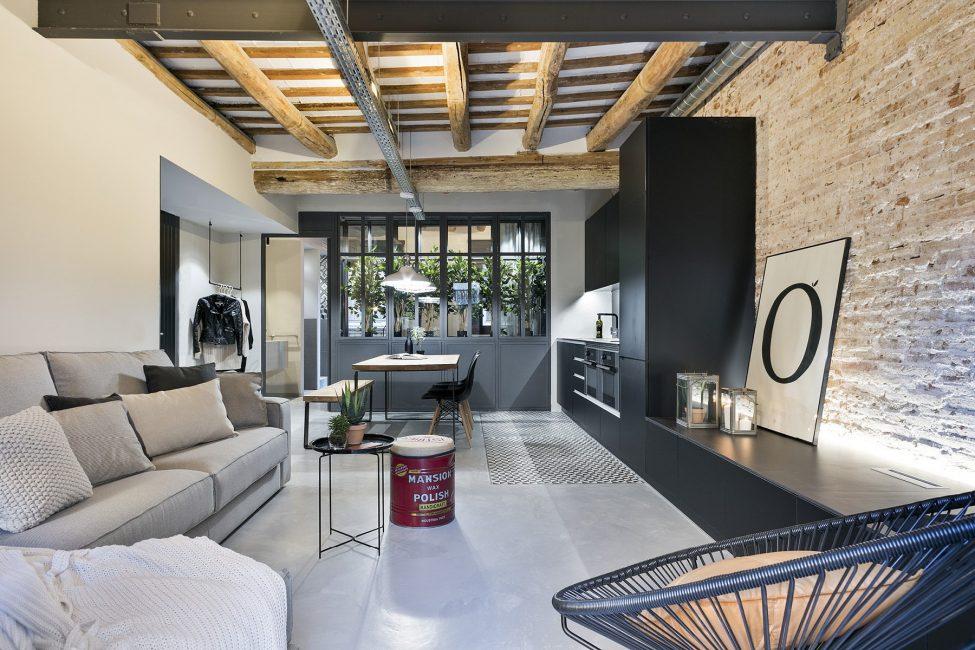 Открытость пространства – особенностью таких квартирок