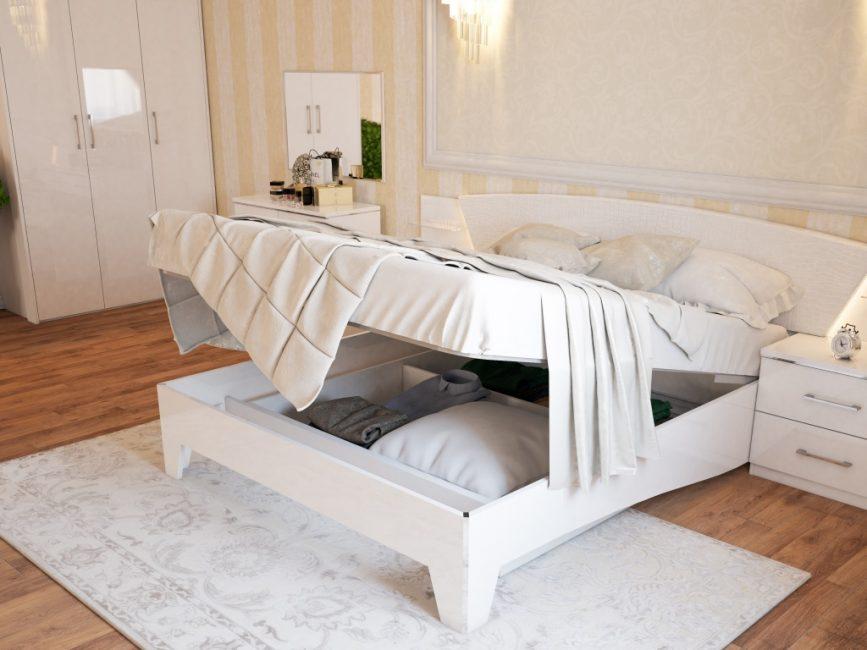 Благодаря достоинствам использование кроватей с таким механизмом становится популярней