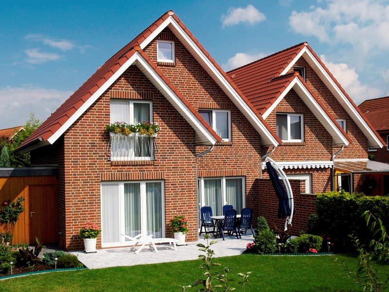 Дом из красного кирпича одноэтажный