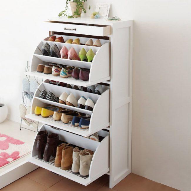 Обувной шкаф - отличный вариант для большой семьи