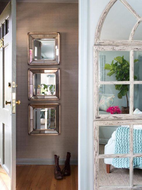 Зеркало - универсальный аксессуар в небольших помещениях