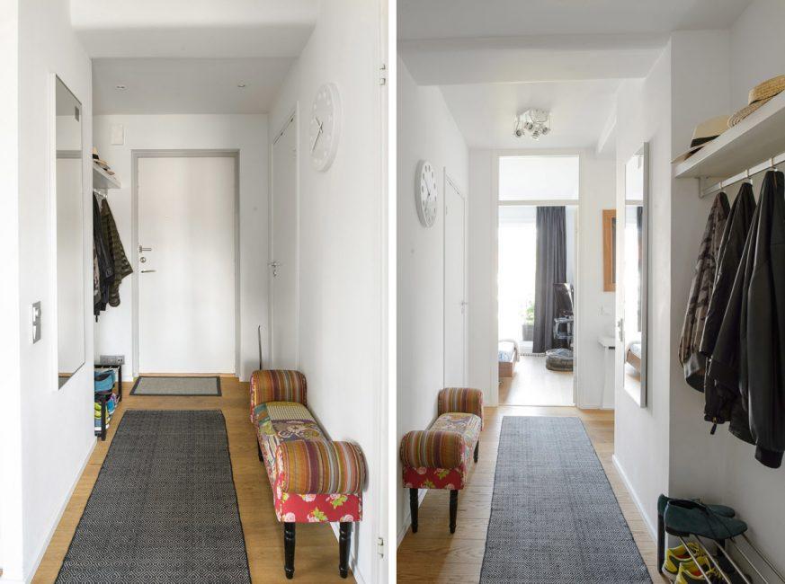 Дорожка зрительно удлиняет коридор