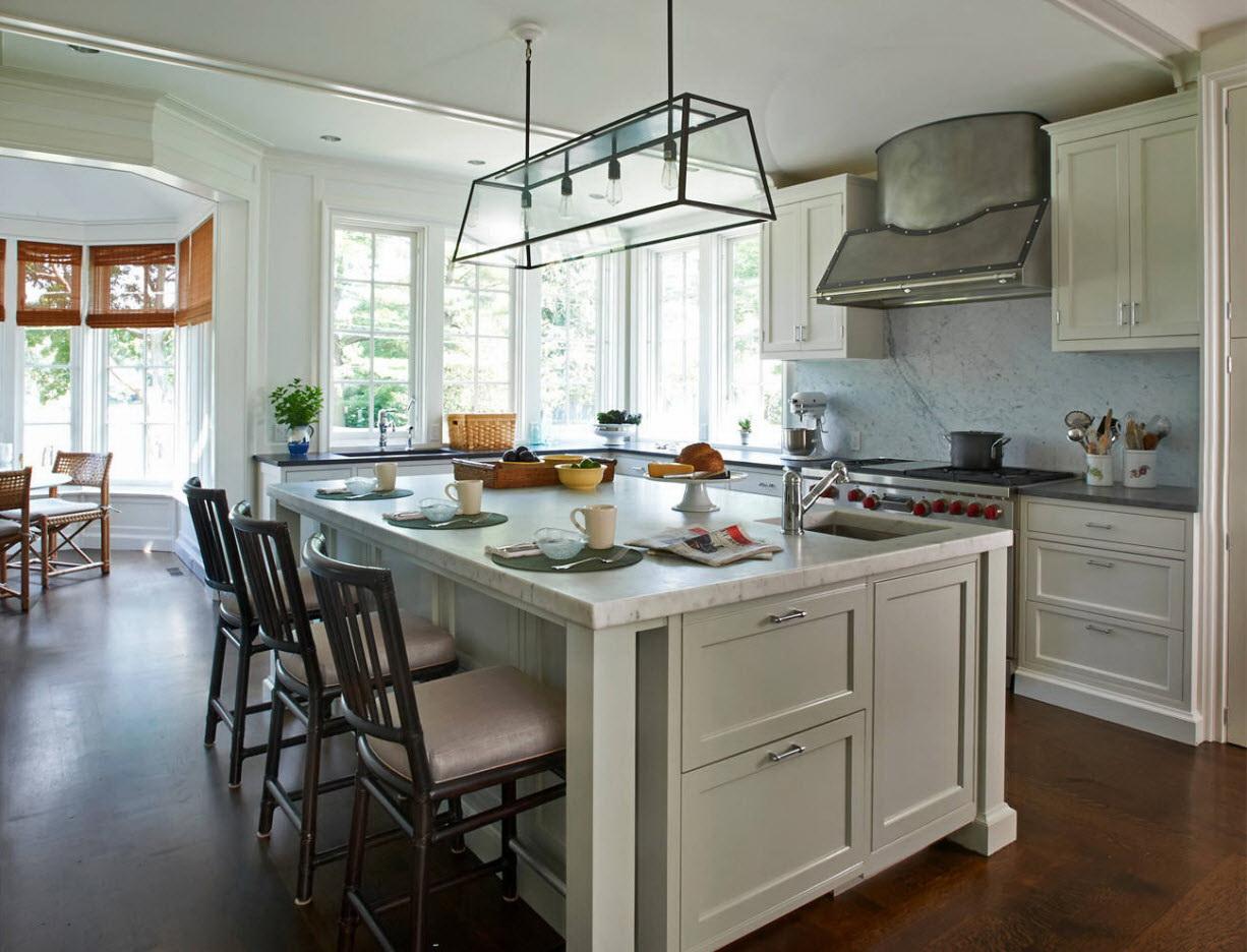 деревянные кухни в частных домах