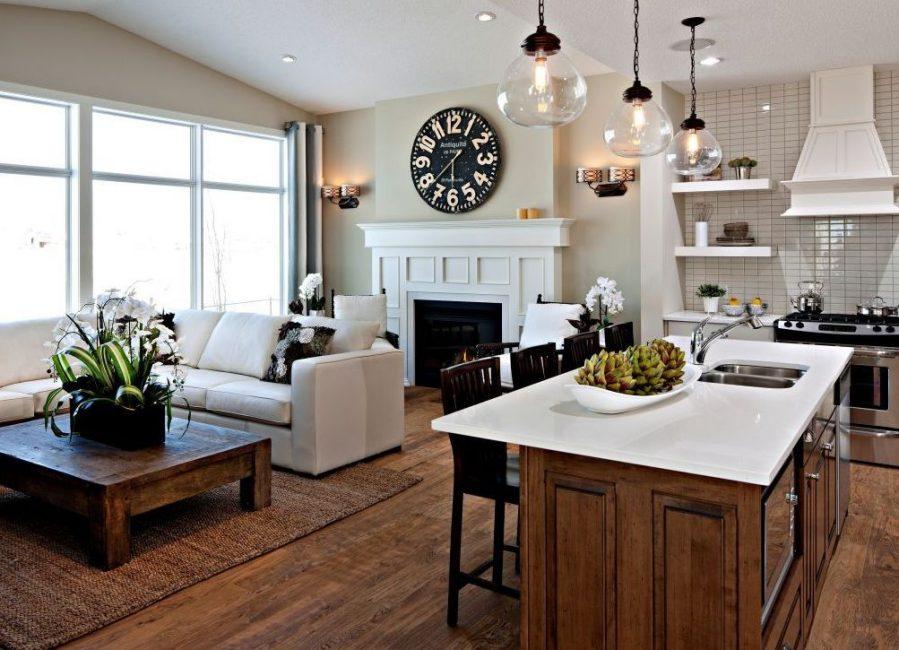 Светлые оттенки популярны в интерьере кухни