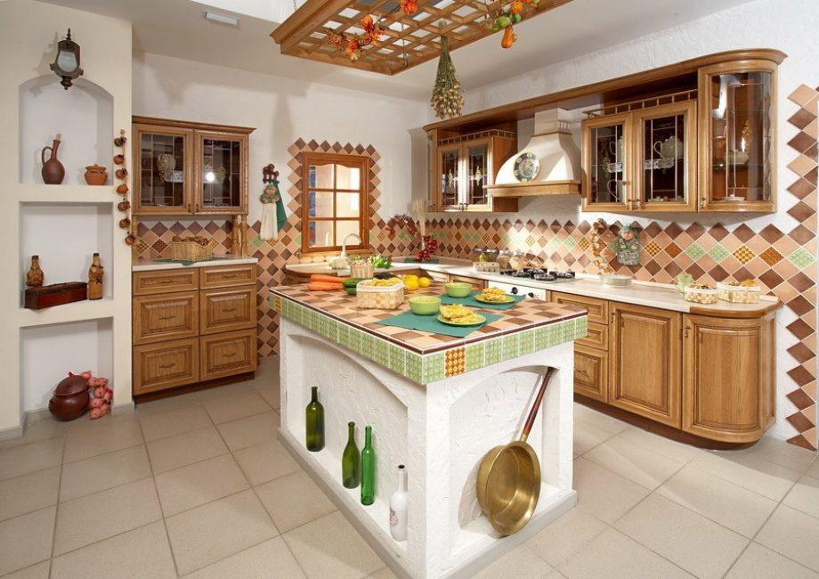 Посуда может служить еще и как декор