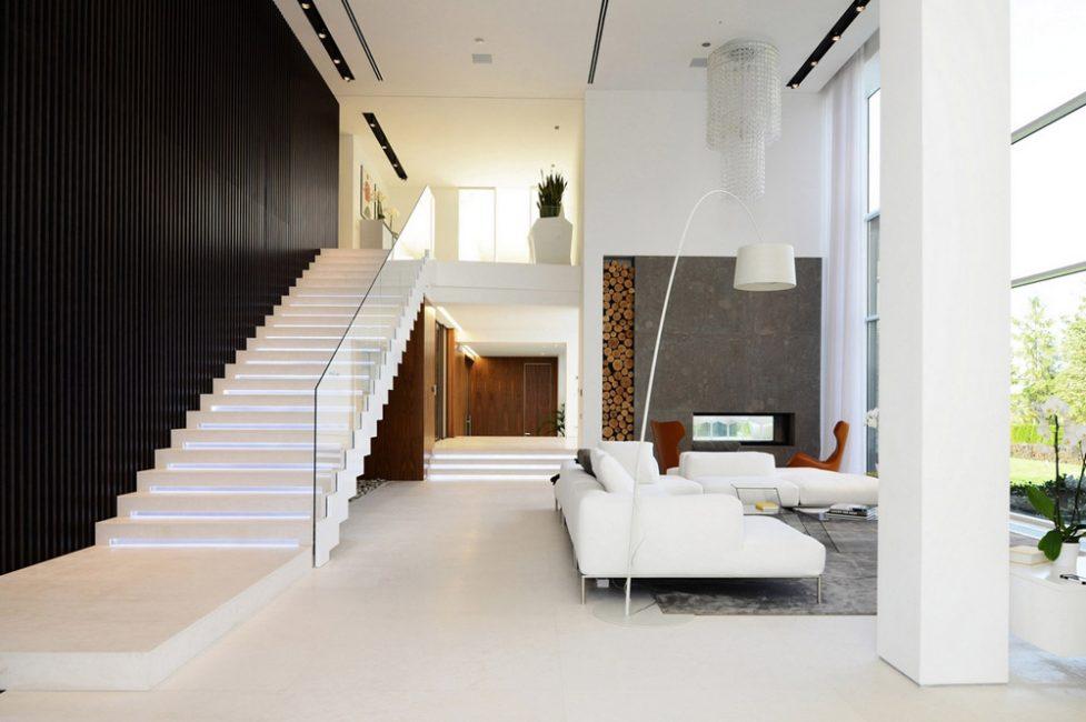 Пример прямой лестницы