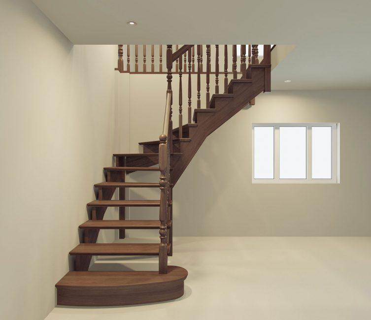 Гибридная лестница в интерьере