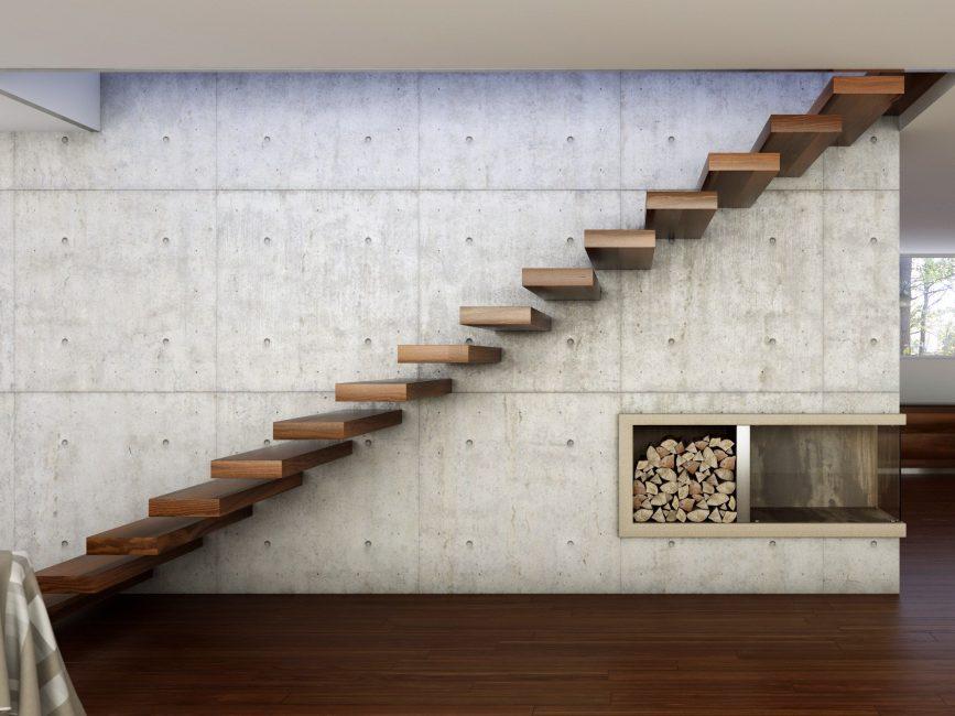 Недостаток консольной лестницы - отсутствие ограждения