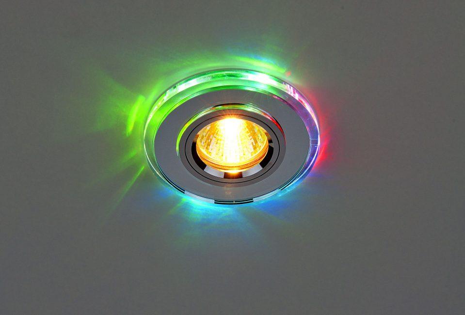 Точечные светильники в дизайне потолка