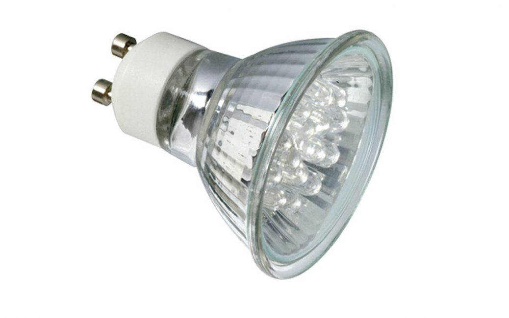 Яркий свет от маленькой лампочки