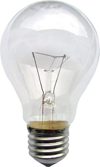 Лампа накаливания с мощностью не больше 60 Вт
