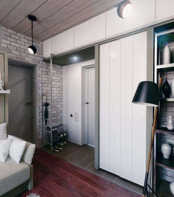 Оформление квартиры в стиле модерн. Отсутствие перегородок дают много естественного освещения