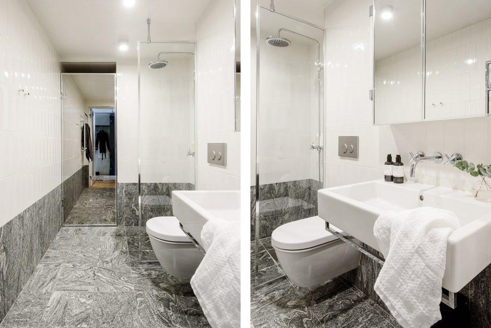 В ванной лучше установить душевую кабинку