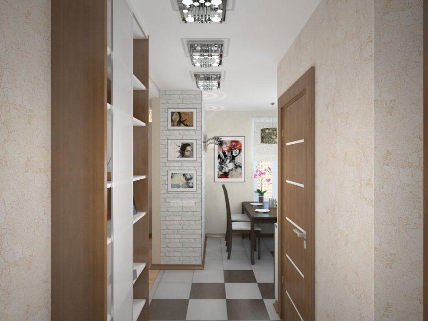 В коридоре лучше всего установить неглубокий шкаф
