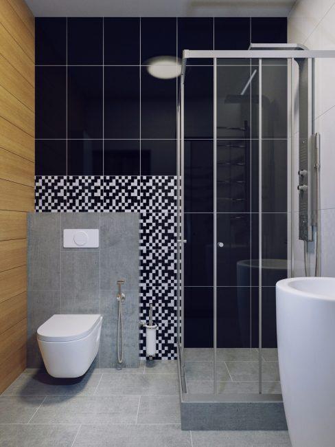 В маленькой квартире приемлемо объединить санузел и ванную