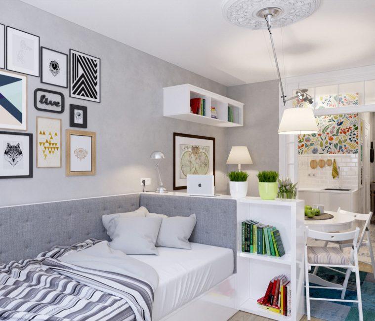 Разделение пространства в квартире-студии