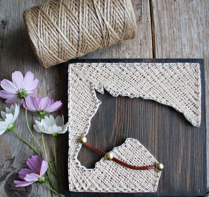 При использовании простых гвоздей их можно украсить бусинами или камнями