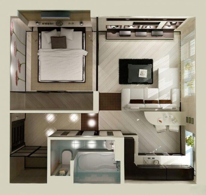 Стильная, небольшая квартира