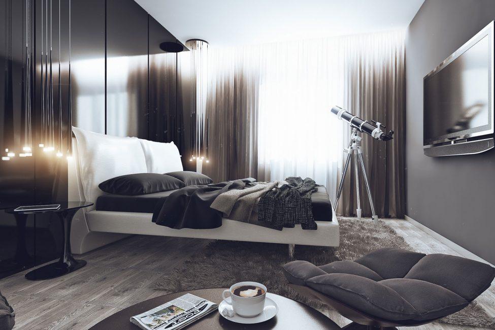 Стиль хай-тек для спальни